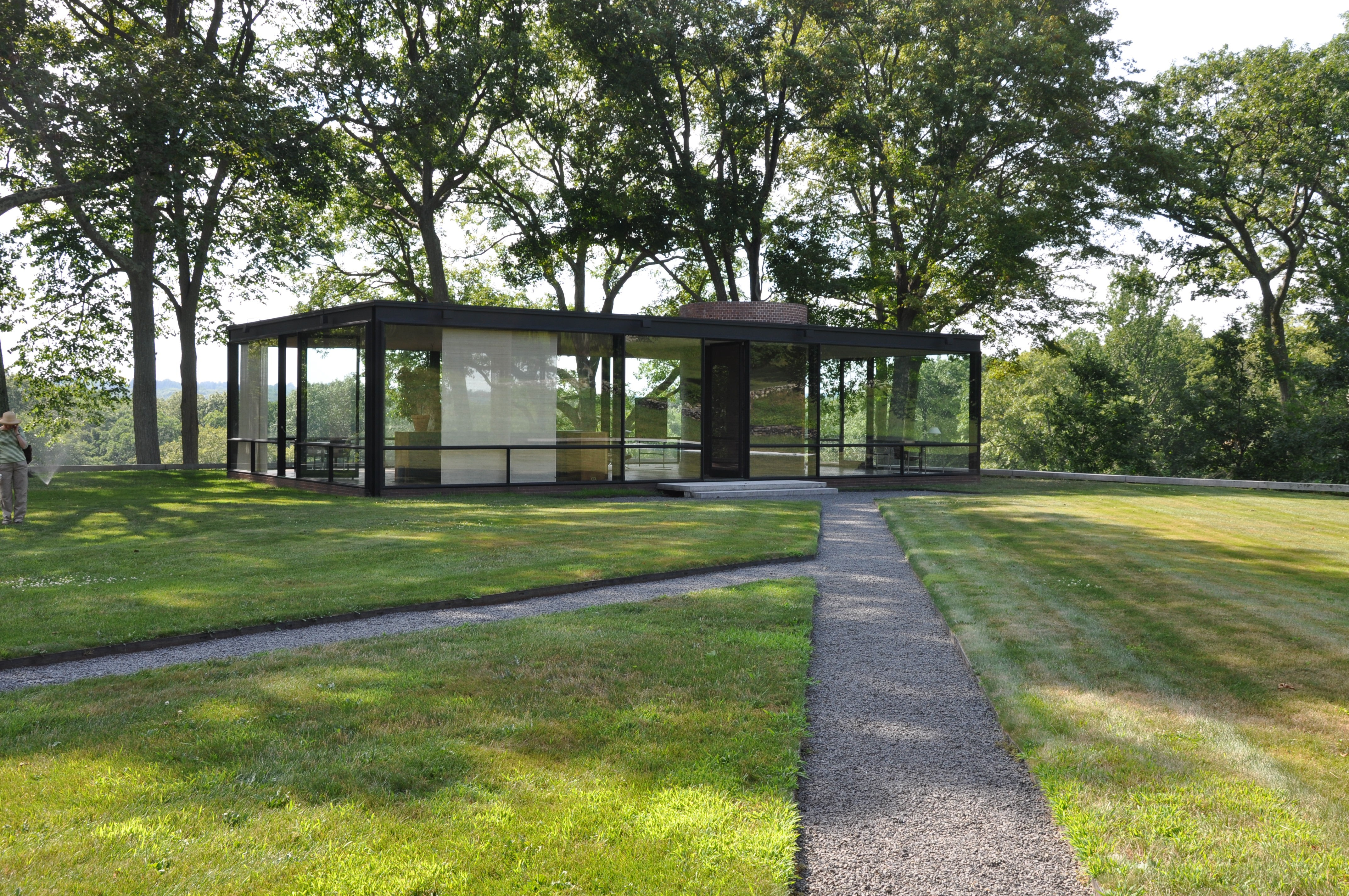Philip Johnson Glass House glass house | usps stamp of approval